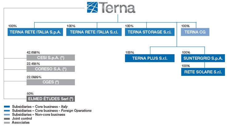 The Terna Group's shareholding structure